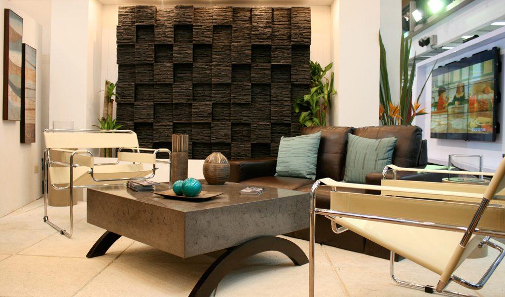 Decoracion de interiores con piedra el tejado ecuador - Piedras para decoracion de interiores ...